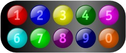 Dix chiffres de 1 à 0. Source : http://data.abuledu.org/URI/520bf7ad-dix-chiffres-de-1-a-0