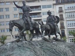 Don Quichotte à San Sebastián (Espagne)            . Source : http://data.abuledu.org/URI/556a36e8--don-quichotte-a-san-sebasti-n-espagne-