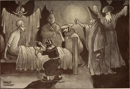 Don Quichotte et les fantômes en 1908. Source : http://data.abuledu.org/URI/596363e4-don-quichotte-et-les-fantomes-en-1908