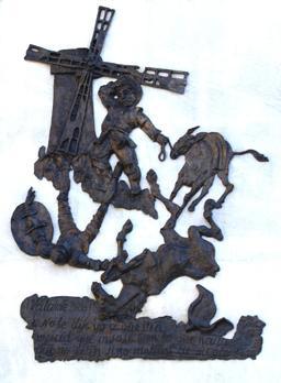 Don Quichotte et les moulins à vent. Source : http://data.abuledu.org/URI/56e4396f-don-quichotte-et-les-moulins-a-vent