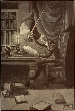 Don Quichotte et ses lectures de chevalerie en 1908. Source : http://data.abuledu.org/URI/596361d7-don-quichotte-et-ses-lectures-de-chevalerie-en-1908