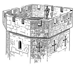 Donjon médiéval. Source : http://data.abuledu.org/URI/54b86932-donjon-medieval