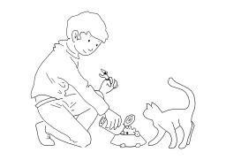 Donner à manger à son chat. Source : http://data.abuledu.org/URI/50254cf6-donner-a-manger-a-son-chat