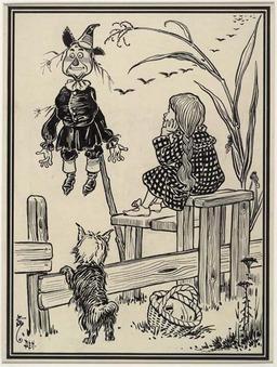 Dorothy et l'épouvantail. Source : http://data.abuledu.org/URI/502142df-dorothy-et-l-epouvantail
