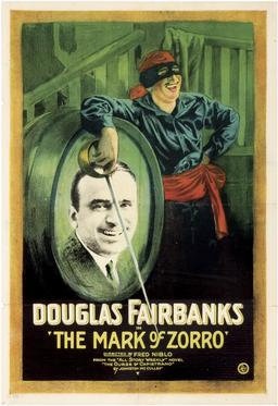Douglas Fairbanks en Zorro en 1920. Source : http://data.abuledu.org/URI/535fca3d-douglas-fairbanks-en-zorro-en-1920