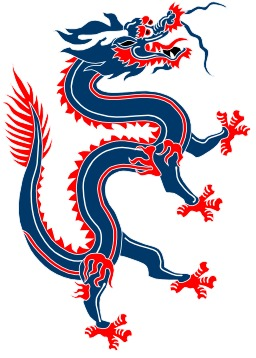 Dragon chinois bleu et rouge. Source : http://data.abuledu.org/URI/504b8aab-dragon-chinois-bleu-et-rouge
