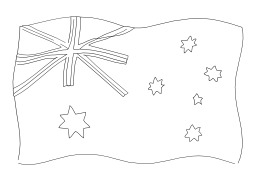 Drapeau australien. Source : http://data.abuledu.org/URI/502565b3-drapeau-australien