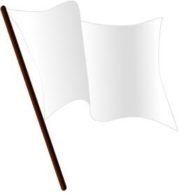 Drapeau blanc. Source : http://data.abuledu.org/URI/504659bd-drapeau-blanc