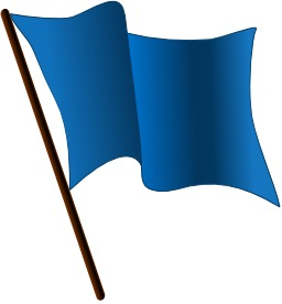 Drapeau bleu. Source : http://data.abuledu.org/URI/504658b9-drapeau-bleu
