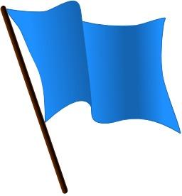 drapeau bleu azur
