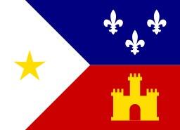 Drapeau d'Acadiana. Source : http://data.abuledu.org/URI/52bc60fb-drapeau-d-acadiana