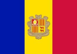 Drapeau d'Andorre. Source : http://data.abuledu.org/URI/537a1be1-drapeau-d-andorre
