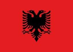 Drapeau de l'Albanie. Source : http://data.abuledu.org/URI/537a23e3-drapeau-de-l-albanie