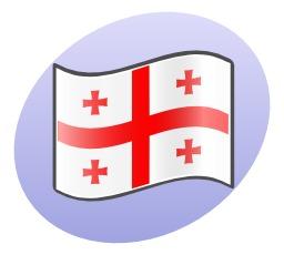 Drapeau de la Géorgie. Source : http://data.abuledu.org/URI/5049fb4a-drapeau-de-la-georgie