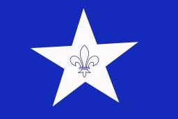 Drapeau des francophones de Nouvelle-Angleterre. Source : http://data.abuledu.org/URI/518aa064-drapeau-des-francophones-de-nouvelle-angleterre