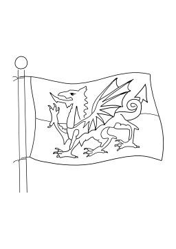 Drapeau du Pays de Galles. Source : http://data.abuledu.org/URI/502566aa-drapeau-du-pays-de-galles