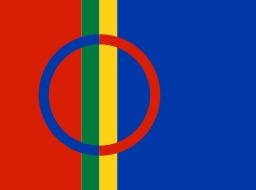 Drapeau sami des lapons. Source : http://data.abuledu.org/URI/53010091-drapeau-sami-des-lapons