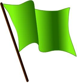 Drapeau vert. Source : http://data.abuledu.org/URI/50465ab4-drapeau-vert
