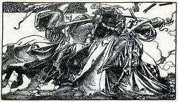 Duel de chevaliers en 1903. Source : http://data.abuledu.org/URI/5950b107-duel-de-chevaliers-en-1903