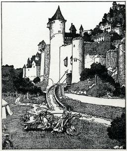 Duel médiéval en 1903. Source : http://data.abuledu.org/URI/5950b08e-duel-medieval-en-1903
