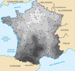 Durée de voyage en train depuis Paris. Source : http://data.abuledu.org/URI/50dce2ba-duree-de-voyage-en-train-depuis-paris
