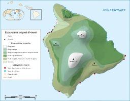 Écosystème originel de l'île de Hawaï. Source : http://data.abuledu.org/URI/5093a637-ecosysteme-originel-de-l-ile-de-hawai