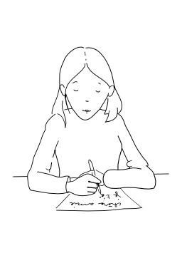 Écrire. Source : http://data.abuledu.org/URI/50256997-ecrire