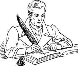 Écrivain à la plume d'oie. Source : http://data.abuledu.org/URI/519e69e4-ecrivain-a-la-plume-d-oie