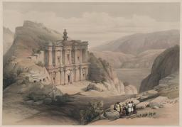 El Deir à Petra en 1839. Source : http://data.abuledu.org/URI/54b5a96b-el-deir-a-petra-en-1839