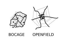 Élevage en bocage et openfield. Source : http://data.abuledu.org/URI/50ba596a-elevage-en-bocage-et-openfield