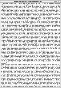 Éloge de la mouche. Source : http://data.abuledu.org/URI/51e5feab-eloge-de-la-mouche
