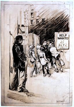Embauche d'enfants en Amérique. Source : http://data.abuledu.org/URI/58cadc1f-embauche-d-enfants-en-amerique
