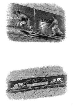 Enfants anglais dans les mines de charbon en 1843. Source : http://data.abuledu.org/URI/58caeb44-enfants-anglais-dans-les-mines-de-charbon-en-1843