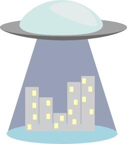 Enlèvement d'une ville par des extra-terrestres. Source : http://data.abuledu.org/URI/54c02043-enlevement-d-une-ville-par-des-extra-terrestres