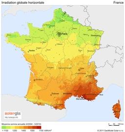 Ensoleillement en France. Source : http://data.abuledu.org/URI/50dad914-ensoleillement-en-france
