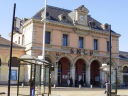 Entrée de la gare de Meaux. Source : http://data.abuledu.org/URI/56573eb6-entree-de-la-gare-de-meaux
