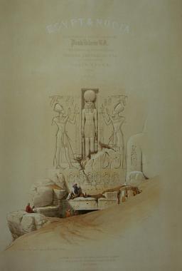 Entrée du Grand temple d'Abou Simbel. Source : http://data.abuledu.org/URI/5472f3e5-entree-du-grand-temple-d-abou-simbel