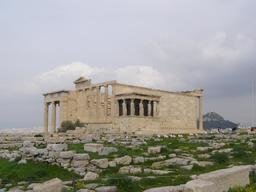 Erechthéion sur l'acropole d'Athènes. Source : http://data.abuledu.org/URI/58d01a7b-erechtheion-sur-l-acropole-d-athenes