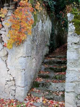 Escalier en pierre à Aiguillon. Source : http://data.abuledu.org/URI/5827e0fe-escalier-en-pierre-a-aiguillon