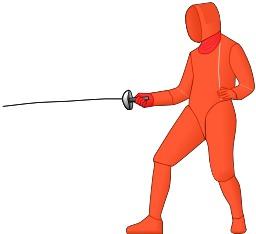 Escrime à l'épée. Source : http://data.abuledu.org/URI/534014a6-escrime-a-l-epee
