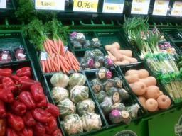 Etalage de légumes au marché en Espagne. Source : http://data.abuledu.org/URI/5329ea57-etalage-de-legumes-au-marche-en-espagne