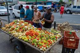 Étalage de légumes en plein air. Source : http://data.abuledu.org/URI/5501e226-etalage-de-legumes-en-plein-air