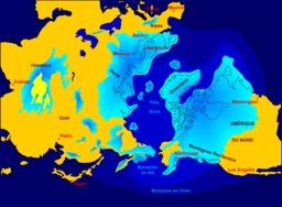 Étendue maximum de l'inlandsis nord. Source : http://data.abuledu.org/URI/5215127f-etendue-maximum-de-l-inlandsis-nord