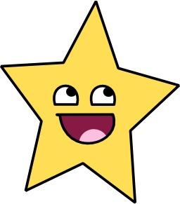 Étoile souriante à cinq branches. Source : http://data.abuledu.org/URI/517f7bce-etoile-souriante-a-cinq-branches