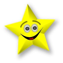 Étoile souriante jaune. Source : http://data.abuledu.org/URI/54067ce8-etoile-souriante-jaune