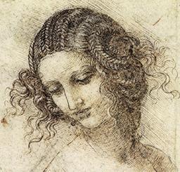 Étude pour le dessin de la tête de Léda. Source : http://data.abuledu.org/URI/5040e00f-etude-pour-le-dessin-de-la-tete-de-leda