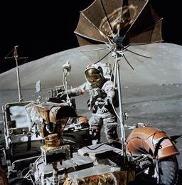 Eugène Cernan et Apollo 17. Source : http://data.abuledu.org/URI/51750507-eugene-cernan-et-apollo-17