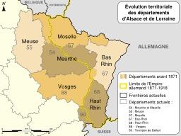 Évolution de l'Alsace-Lorraine. Source : http://data.abuledu.org/URI/51cc0a61-evolution-de-l-alsace-lorraine