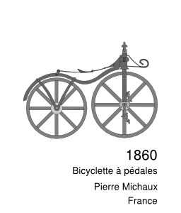 Évolution de la bicyclette, 1860. Source : http://data.abuledu.org/URI/50edaf74-evolution-de-la-bicyclette-1860