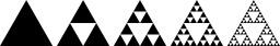 Évolution du triangle de Sierpinski. Source : http://data.abuledu.org/URI/5183e876-evolution-du-triangle-de-sierpinski